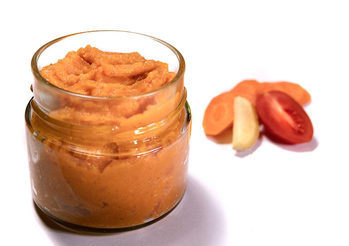 Karotten-Pomodori-Aufstrich BIO im Glas